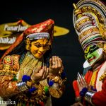 A typical Kathakali show in Kerala